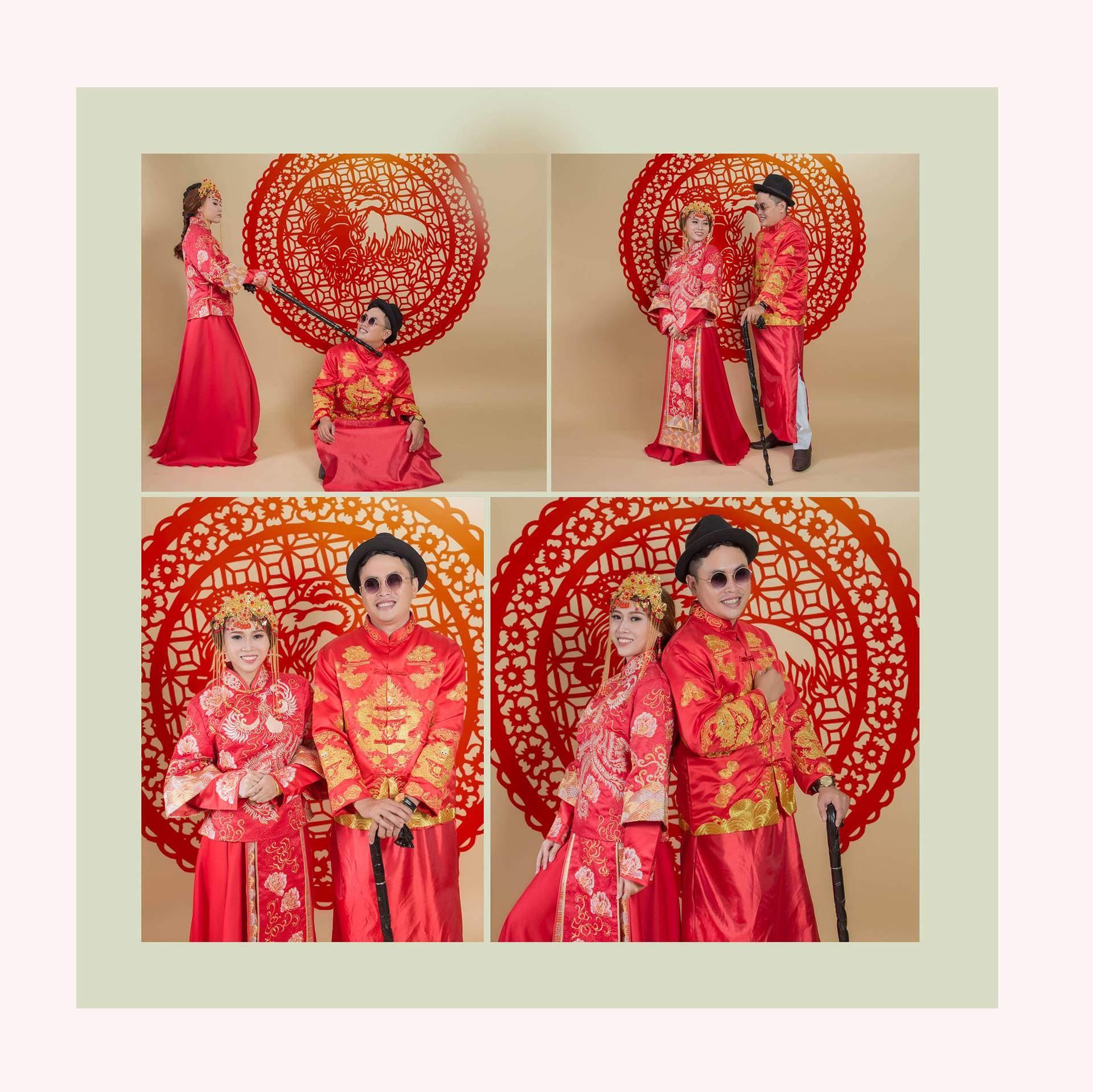 Chụp ảnh cưới áo khỏa Trung Hoa