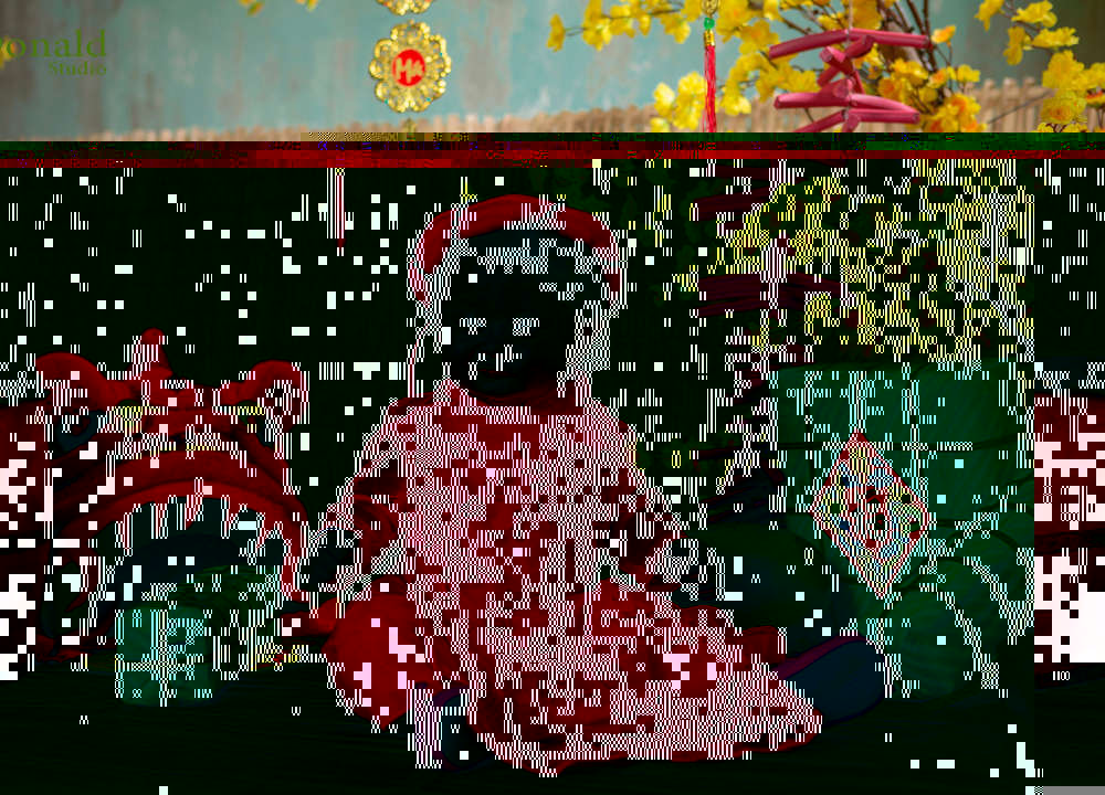 Chụp ảnh tết 2019 cho bé