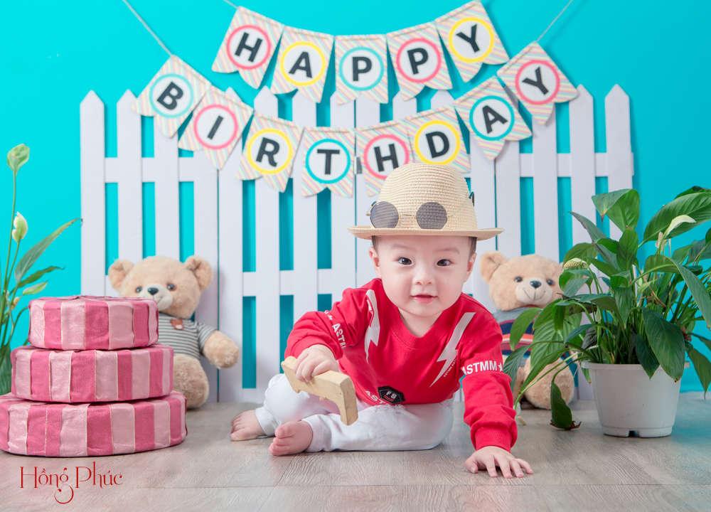 Chụp ảnh sinh nhật cho bé trai tại Donaldstudio