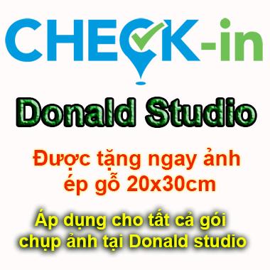 Check in Donald studio - được tặng ngay ảnh ép gỗ 20x30